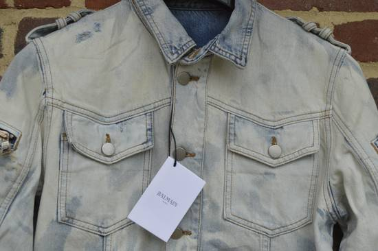 Balmain Light Blue Distressed Denim Jacket Size US M / EU 48-50 / 2 - 6