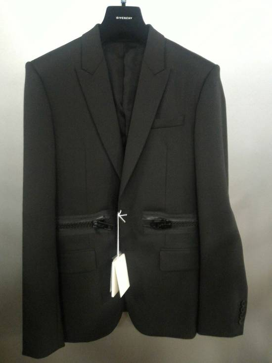 Givenchy 46-48 Zipped Blazer Mohair & Wool Jacket Size US M / EU 48-50 / 2