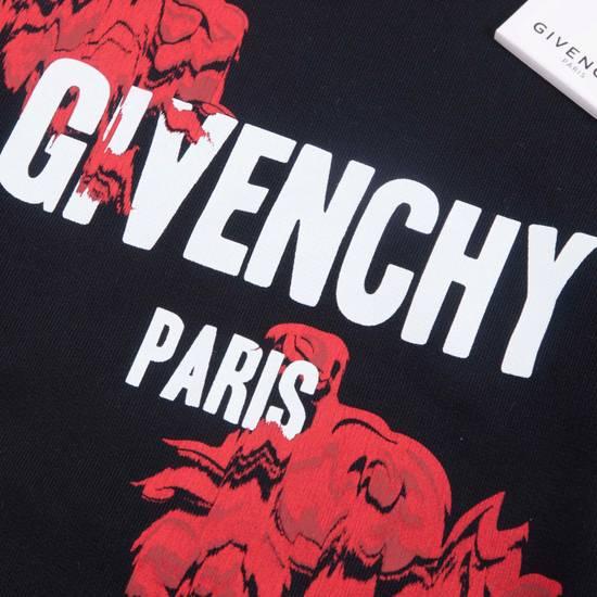 Givenchy SS18 Black Roses & Givenchy Logo Printed Sweatshirt Size US XS / EU 42 / 0 - 2