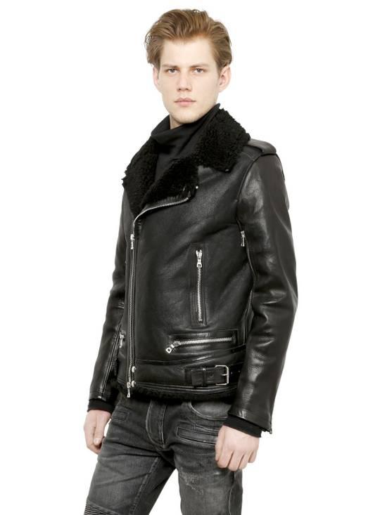 Balmain Balmain shearling leather biker jacket Size US L / EU 52-54 / 3 - 7