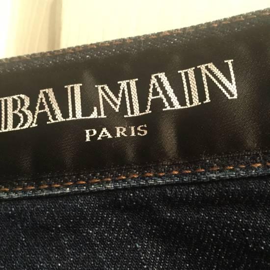 Balmain Indigo Cropped Denim Size US 32 / EU 48 - 4