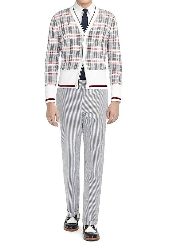 Thom Browne Plaid Striped Cardigan Size 0 NEW Size US XS / EU 42 / 0 - 2