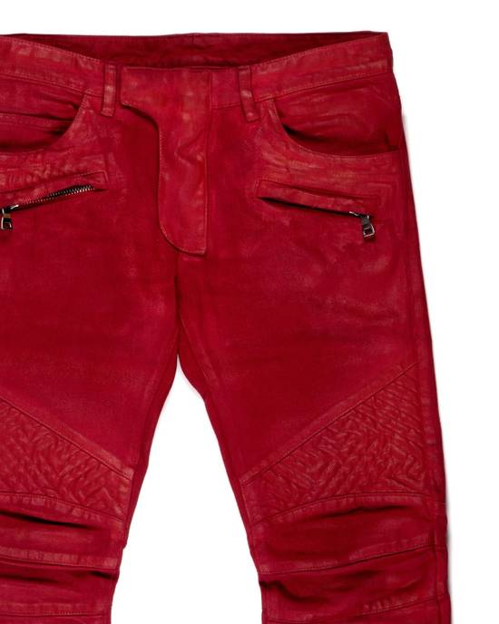 Balmain Balmain Biker Denim Red Size US 28 / EU 44