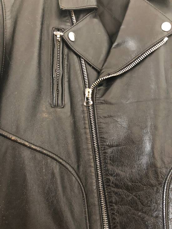 Balmain Black Horse Leather Double Rider Jacket Size US L / EU 52-54 / 3 - 1
