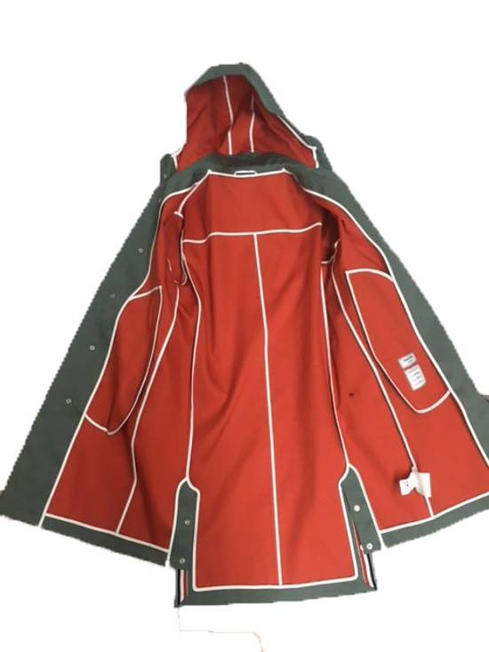 Thom Browne Men's Hood Snap Front Parka In Mackintosh Size US XS / EU 42 / 0 - 1
