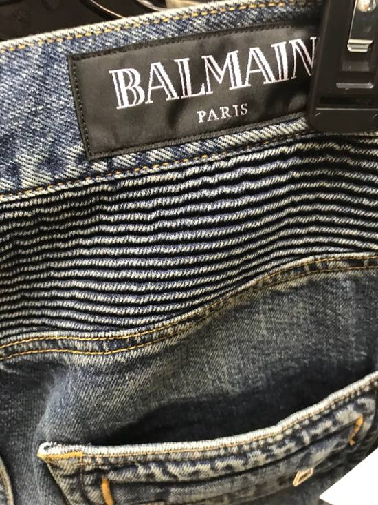 Balmain Dark Wash Zip Pockets Twist Denim Size US 34 / EU 50 - 8