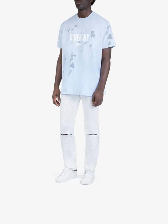 Givenchy Givenchy Baby Blue Destroyed Distressed Logo Shark Oversized T-shirt size M (XL) Size US XL / EU 56 / 4 - 3
