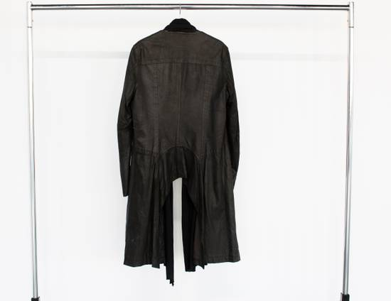 Julius Leather coat with jersey scarf Size US L / EU 52-54 / 3 - 1
