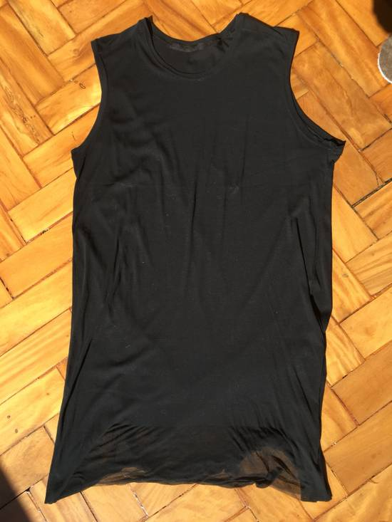 Julius Japan Made Black Elongated Tank With Semi Sheer Back Panel Worn Only Once Size US M / EU 48-50 / 2