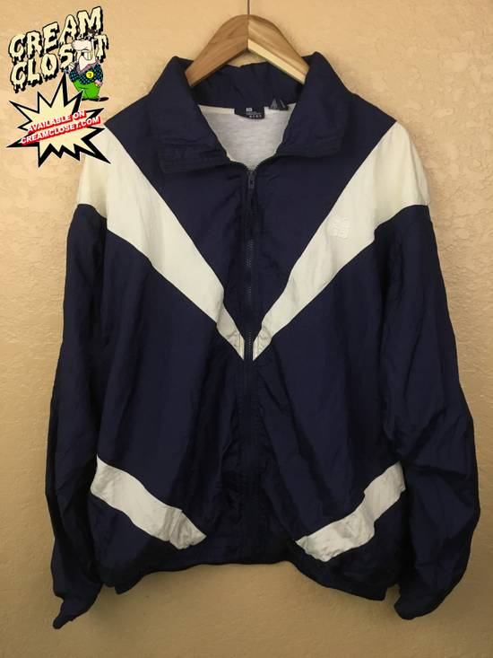 Givenchy VINTAGE GIVENCHY STRIPED COLOR BLOCK TRACK JACKET IN NAVY BLUE WHITE Size US XL / EU 56 / 4