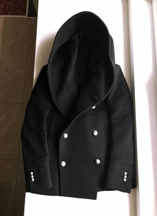 Balmain Balmain Black Wool Hooded Peacoat Size US L / EU 52-54 / 3 - 1