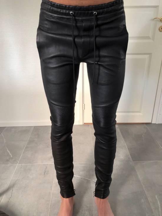 Balmain Leather Sweatpants Size S Size US 30 / EU 46 - 7