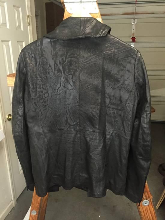 Julius SS17 Treated Lambskin Funnel Neck Jacket Size US L / EU 52-54 / 3 - 9