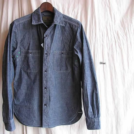 Nigel Cabourn chambray medical shirt Size US L / EU 52-54 / 3