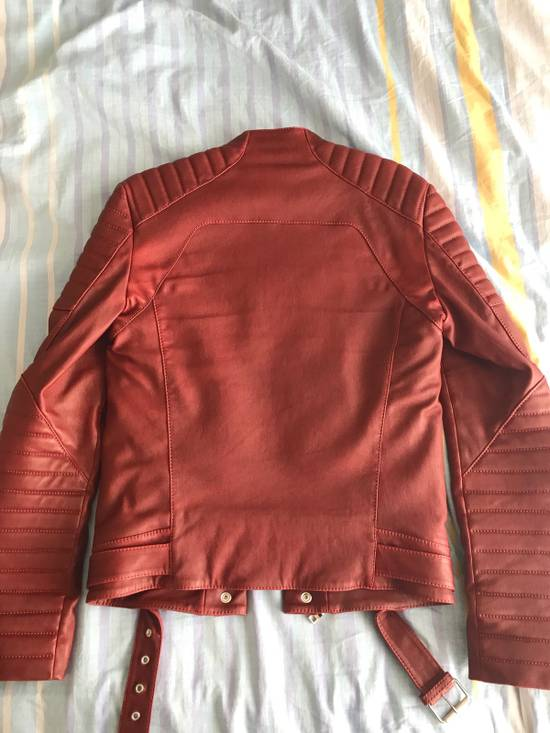Balmain Balmain Red Leather Jacket Size It46 Size US S / EU 44-46 / 1 - 1
