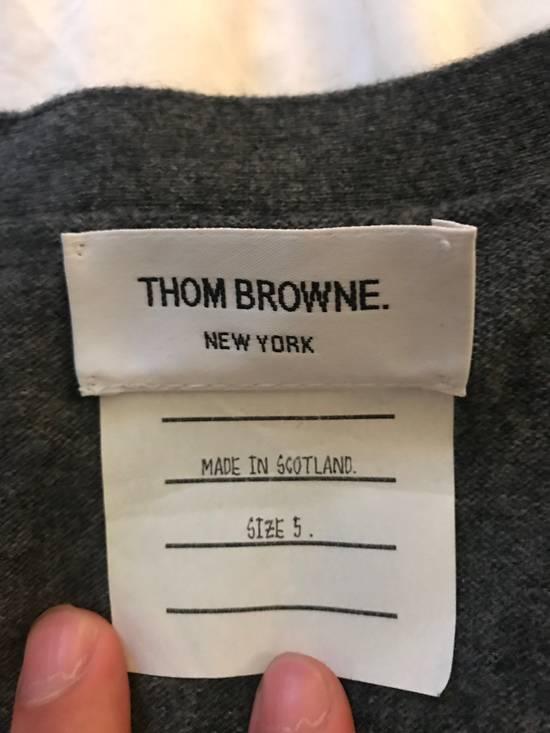 Thom Browne Classic grey cashmere cardigan Size US XXL / EU 58 / 5 - 4
