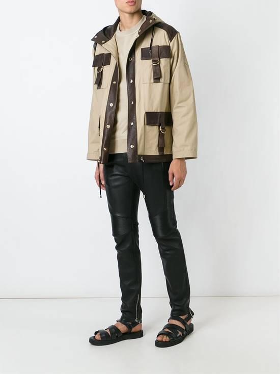 Balmain Leather and canvas hooded safari jacket Size US L / EU 52-54 / 3 - 1