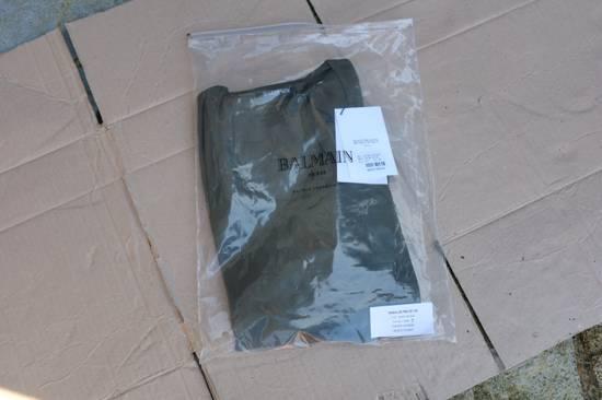 Balmain Khaki Ribbed Knit Long Sleeve T-shirt Size US S / EU 44-46 / 1 - 7