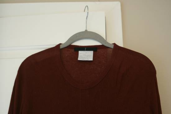 Julius FW08 Blood Red Cotton/Cashmere Rib L/S Size US S / EU 44-46 / 1 - 5