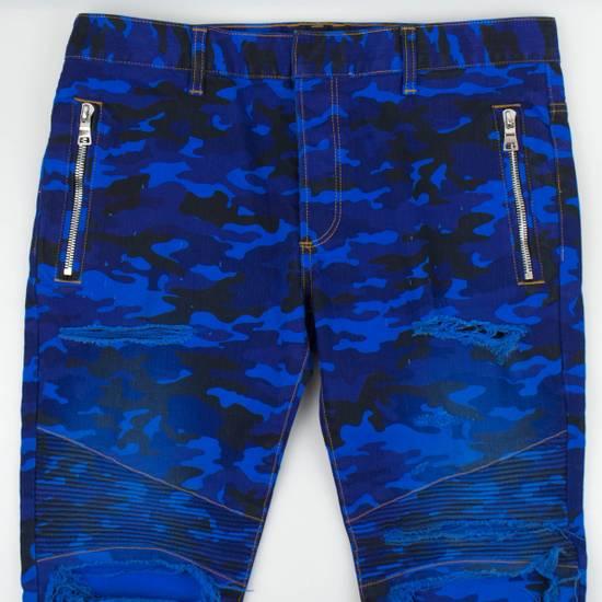 Balmain Blue Camouflage Denim Distressed Jeans Pants Size US 30 / EU 46 - 2
