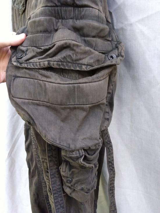 Julius Green Denim Gas Mask Cargo Pants s/s 13 Size US 29 - 2