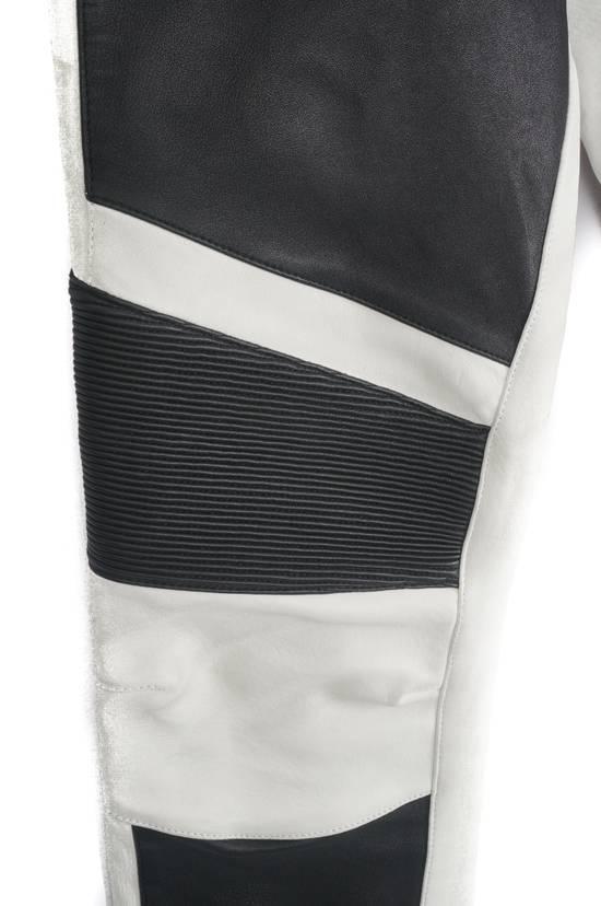 Balmain Balmain Black and White Leather Pants Size US 30 / EU 46 - 1