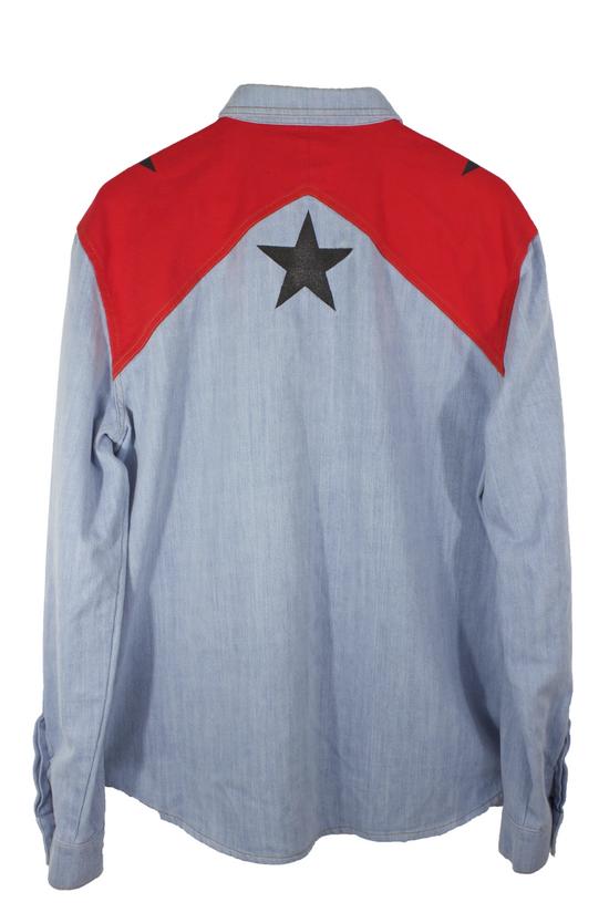 Givenchy Denim Star Button-Up Shirt Size US L / EU 52-54 / 3 - 1