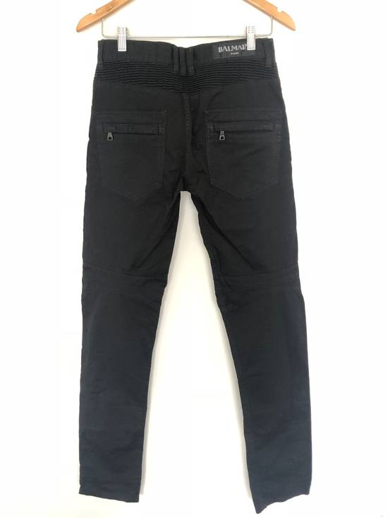 Balmain Balmain Twill Cotton Biker Denim Size US 29 - 7
