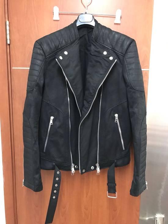 Balmain waxed biker jacket Size US M / EU 48-50 / 2