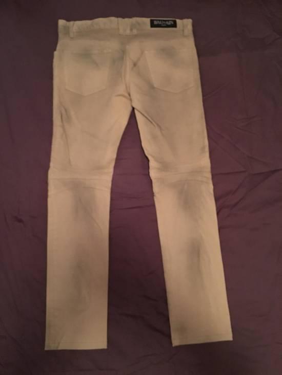 Balmain Biker Cotton Pants Size US 29 - 4