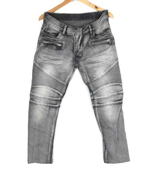 Balmain Rare! Distressed Balmain Biker Denim Jean Trouser Skinny Luxury Designer Size US 32 / EU 48