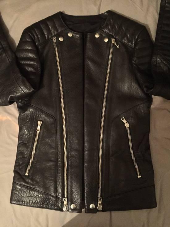 Balmain Leather Biker Jacket Lambskin Original SS12 Brand New Size US M / EU 48-50 / 2 - 11