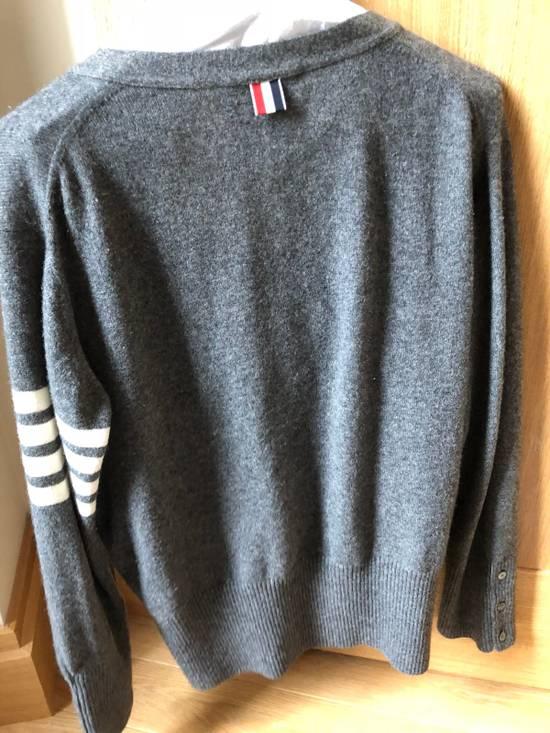 Thom Browne Signature Grey Cashmere Cardigan Size US M / EU 48-50 / 2 - 5