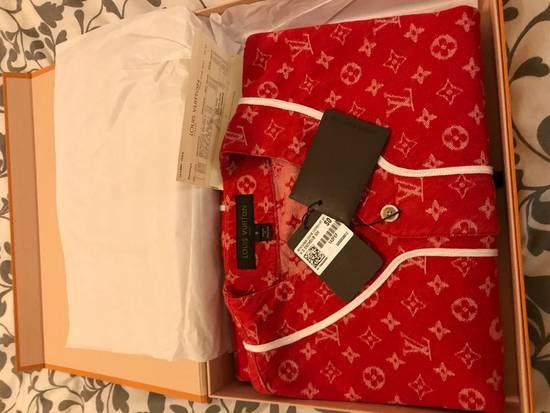 Supreme Louis Vuitton Supreme Red Denim Baseball Jersey Size US S / EU 44-46 / 1 - 2