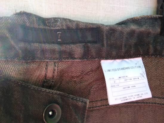 Julius Gas Mask Cargos Brown Waxed Denim Size US 31 - 6
