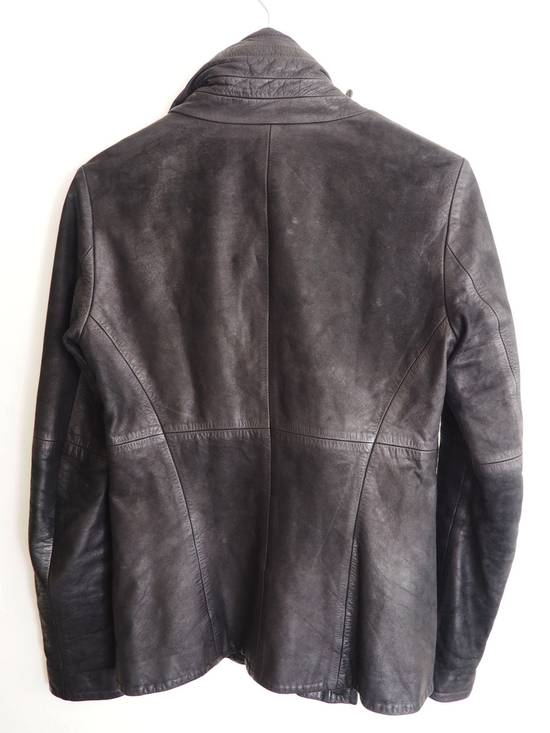 Julius FW10 Cowl Neck Leather Jacket Size US S / EU 44-46 / 1 - 1