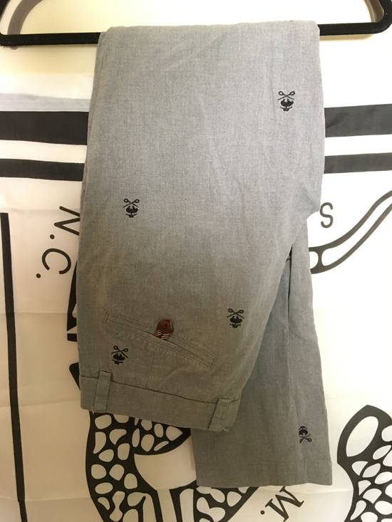 Brooks Brothers Rare Vintage Red Fleece Embroidered Gray Slacks Size US 30 / EU 46 - 2