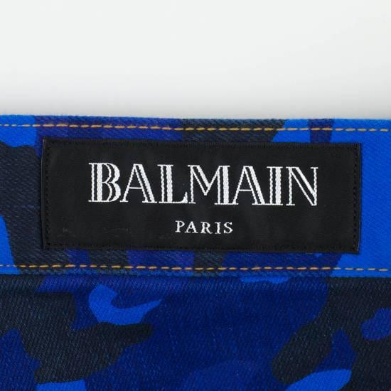 Balmain Blue Camouflage Denim Distressed Jeans Pants Size US 30 / EU 46 - 5
