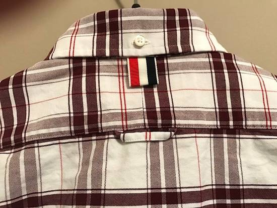 Thom Browne Plaid Oxford Cloth Shirt with Grosgrain Tab NEW Size US S / EU 44-46 / 1 - 7