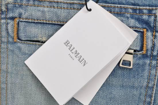 Balmain Slim Signature Light Blue Biker Jeans Size US 29 - 8