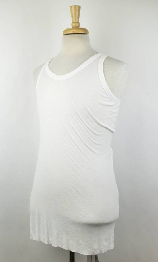 Julius 7 White Rayon Blend Long Ribbed Tank Top T-Shirt Size 4/L Size US L / EU 52-54 / 3 - 1