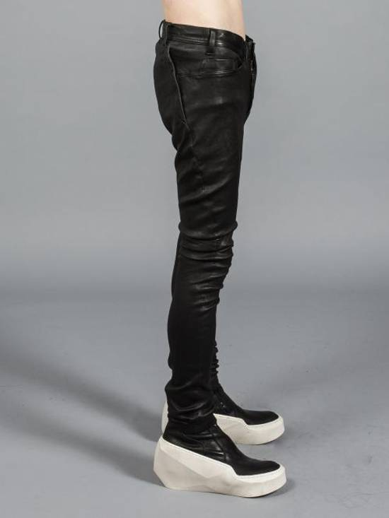 Julius Deerskin Leather Biker Pants Size US 30 / EU 46 - 2