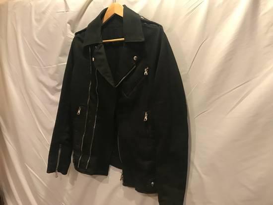 Balmain SS15 Waxed Cotton Biker Jacket Size US XL / EU 56 / 4 - 4