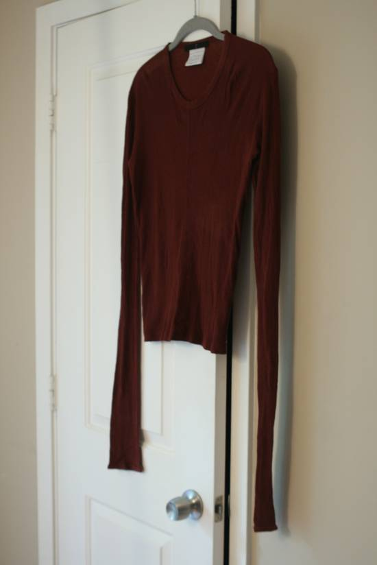Julius FW08 Blood Red Cotton/Cashmere Rib L/S Size US S / EU 44-46 / 1
