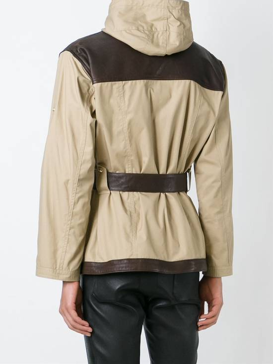 Balmain Leather and canvas hooded safari jacket Size US L / EU 52-54 / 3 - 5