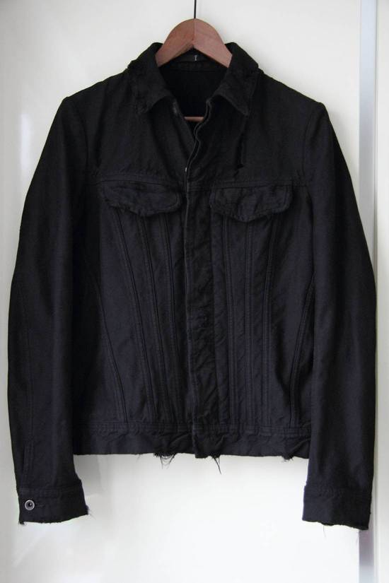 Julius JULIUS_7 COTTON NYLON DENIM DISTRESSED JACKET SIZE 2 Size US M / EU 48-50 / 2