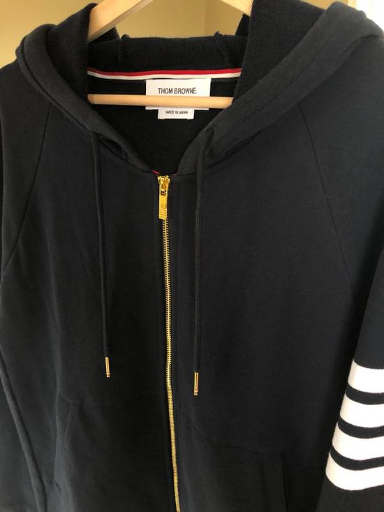 Thom Browne STEAL- New 4 Bar Engineered Hooded Sweatshirt Zipper Hoodie NWOT Size US M / EU 48-50 / 2
