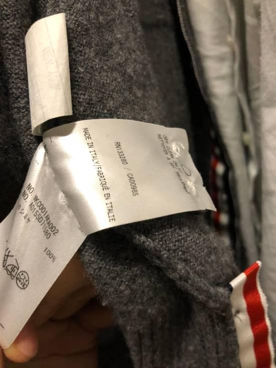 Thom Browne Signature Grey Cashmere Cardigan Size US M / EU 48-50 / 2 - 8