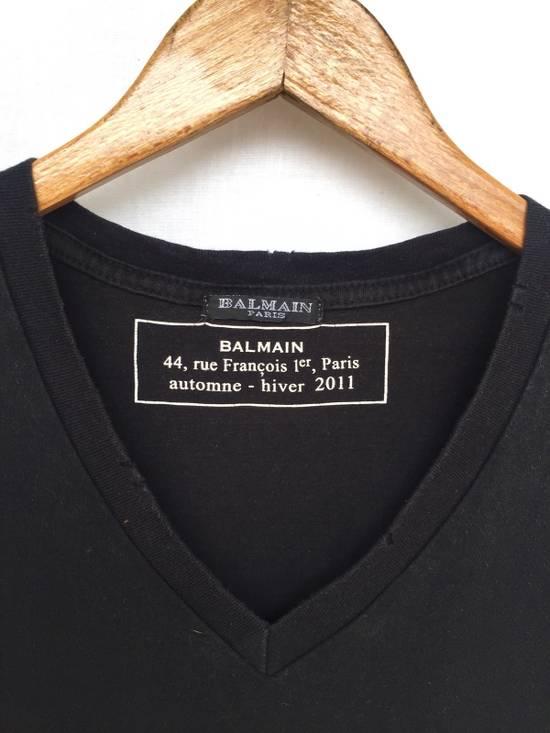 Balmain [ LAST DROP ! ] AW2011 Distressed Black Shirt Size US M / EU 48-50 / 2 - 6
