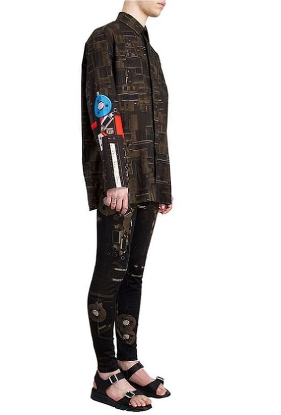 Givenchy Givenchy Dark Circuit 17 Deck Tape Rottweiler Shark Oversized Shirt size 40 (L) Size US L / EU 52-54 / 3 - 4